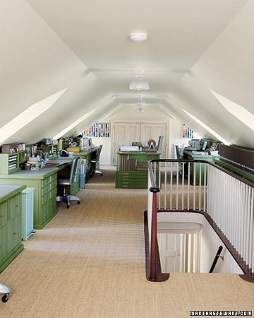 Martha Stewart Attic Craft Room